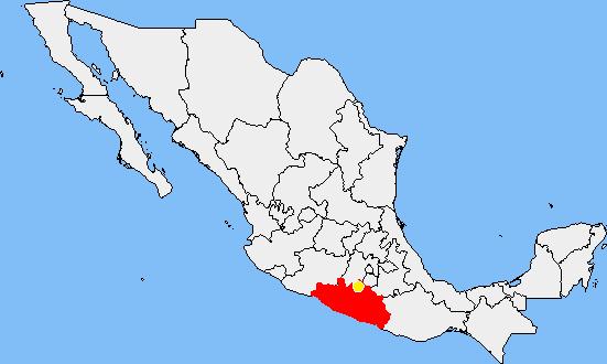 Resultado de imagen para taxco guerrero mapa mexico
